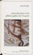 Introduction à la philosophie de l'esprit / Pascal Engel
