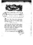 Délibération du Conseil général de la commune de Toulouse, en date du 20 mai 1790. Délibération du conseil général de la commune de Montélimar, en date du cinq mai mil sept cent quatre-vingt-dix ([Reprod.]) / [signé...