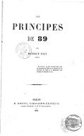 Les Principes de 89, par Maurice Joly,...