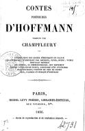 Contes posthumes d'Hoffmann / traduits par Champfleury...