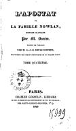 L'apostat, ou La famille Nowlan. Tome 4 / , histoire irlandaise par M. Banim, traduite de l'anglais par M. A.-J.-B. Defauconpret