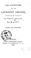 Les aventures de Sir Launcelot Greaves. Tome 4 / , traduites de l'anglais de Tobias Smollet, par M. de F***