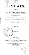 Pen Owen , roman par M. Théodore Hook, traduit de l'anglais par le traducteur des romans de Sir Walter Scott