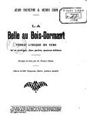 La belle au bois dormant : féerie lyrique en vers / par Jean Richepin et Henri Cain ; musique de scène par Francis Thomé