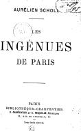 Les ingénues de Paris / Aurélien Scholl