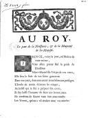 Au Roy, le jour de la naissance, & de la majorité de Sa Majesté.
