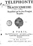 Téléphonte , tragi-comédie, représenté par les deux trouppes royalles