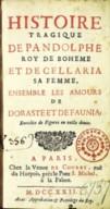 Histoire tragique de Pandolphe, roi de Bohême...