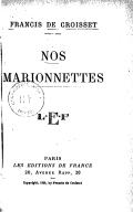 Nos marionnettes / Francis de Croisset