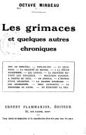 Les grimaces et quelques autres chroniques / Octave Mirbeau