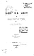 Le nombre et la raison, ou Revision du suffrage universel / par Félix Battanchon