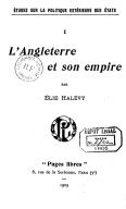 L'Angleterre et son empire / par Élie Halévy