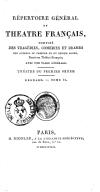 Répertoire général du théâtre français.... Théâtre du premier ordre. Regnard. Tome I [-IV]. Tome 25