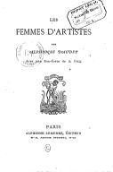 Les femmes d'artistes / par Alphonse Daudet... ; avec une eau-forte de A. Gill