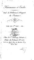Hermann et Émilie. Tome 1 / . Traduit de l'allemand d'Auguste La Fontaine, par le Cen Ray......al