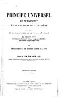 Principe universel du mouvement et des actions de la matière... et applications à la matière comme à la vie (3e édition) / par P. Trémaux,...