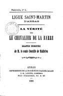 Image from object titled La vérité sur le chevalier de La Barre. Graves erreurs de M. le Cte Douville de Maillefeu