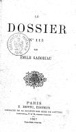 Le Dossier n°113, par Émile Gaboriau