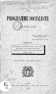 Le programme socialiste français / [signé Jean-Louis, du Gers]