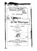 Les Annales du théâtre et de la musique / Édouard Noël et Edmond Stoullig