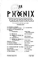 Le Phœnix : revue de la renaissance orientale / direction : V. de Saint-Point