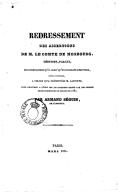 Redressement des assertions de M. le Comte de Mosbourg, déduites, par lui, des combinaisons qu'il croit qu'on pourrait substituer, avec avantage, à celles qu'a présentées M. Laffitte, pour procurer à l'État les 200...