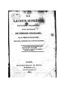 De la Cour suprême : deuxième fragment d'un ouvrage de théorie judiciaire / par M. Brillat de Savarin,..