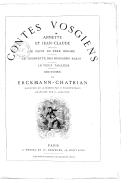 Contes vosgiens / par Erckmann-Chatrian.. ; illustré de 18 dessins par P. Philippoteaux ; gravures par C. Laplante
