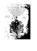 Brief recueil des édicts de tres illustre prince Emanuel Philibert... duc de Savoye, et des arrests donnez par son souverain Sénat séant à Chambéry, sur le faict de la religion, justice et politique