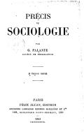Précis de sociologie (2e édition revue) / par G. Palante,...