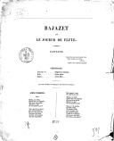 Bajazet et le joueur de flûte : cantate