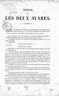 """Notice sur """"les Deux avares"""". [Extrait des """"Mémoires"""" de Grétry.]"""