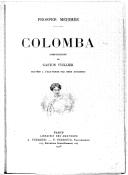 Colomba / Prosper Mérimée ; compositions de Gaston Vuillier ; gravées à l'eau-forte par Omer Bouchery