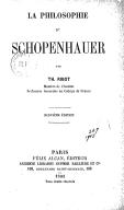 La philosophie de Schopenhauer (9e édition) / par Th. Ribot,...