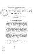 Études d'archéologie orientale. L'imagerie phénicienne et la mythologie iconologique chez les Grecs, par Ch. Clermont-Ganneau,... 1re partie : la Coupe phénicienne de Palestrina,...