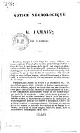 Notice nécrologique sur M. Jamain , par M. Poiteau