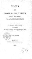 Choix de contes et nouvelles, dédiés aux femmes, par Auguste Lafontaine, traduction libre de Mme Élise Voïart,.... La Rose unique, ou la Fleur des grâces, fiction. L'Amour filial. Saïd, ou l'Amitié. Le Galérien. Du mariage