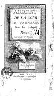 Arrest de la cour du Parnasse pour les jesuites . Poëme avec notes et figures