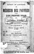 """Extrait de l'ouvrage """"Le médecin des pauvres et les 2.000 recettes utiles"""" (26e édition) / par le professeur Peyronnet,... ; avec la collaboration du Dr Georges Davis,..."""