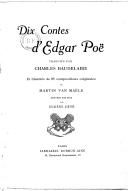 Dix contes d'Edgar Poe / traduits par Charles Baudelaire ; et illustrés de 95 compositions originales de Martin Van Maële gravées sur bois par Eugène Dété