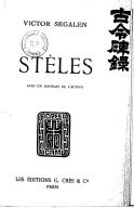 Stèles / Victor Segalen