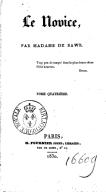Le Novice, par Mme de Bawr. Tome 4