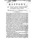Rapport au conseil général d'administration des hospices civils de Paris, sur leur état au Ier germinal an XI ([Reprod.]) / [Camus]