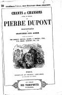 Chants et chansons, poésie et musique / de Pierre Dupont ; illustrés de gravures sur acier d'après les dessins de Tony Johannot, Andrieux, Gavarni... [et al.]