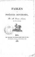Fables et poésies diverses / par M. Étienne Azéma (de l'île Bourbon)