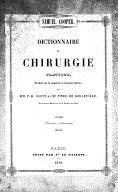 Dictionnaire de chirurgie pratique, traduit sur la 7e édition... par... P.-H. Scott et M. Pinel de Galleville,...