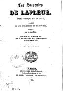 Les souvenirs de Lafleur : opéra-comique en un acte / paroles de MM. Carmouche et de Courcy ; musique de M. Halévy...