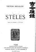 Stèles (5e édition) / Victor Segalen