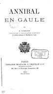 Annibal en Gaule / par J. Colin,...