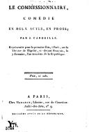 Le commissionnaire , comédie en deux actes, en prose ; par J. Candeille